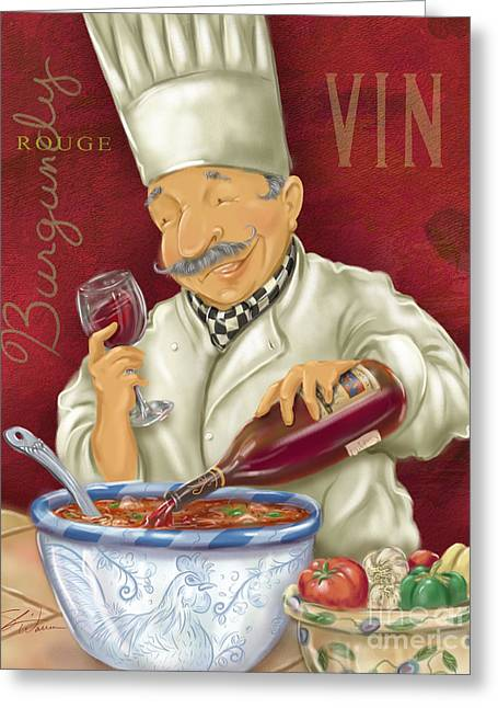 Wine Chef II Greeting Card