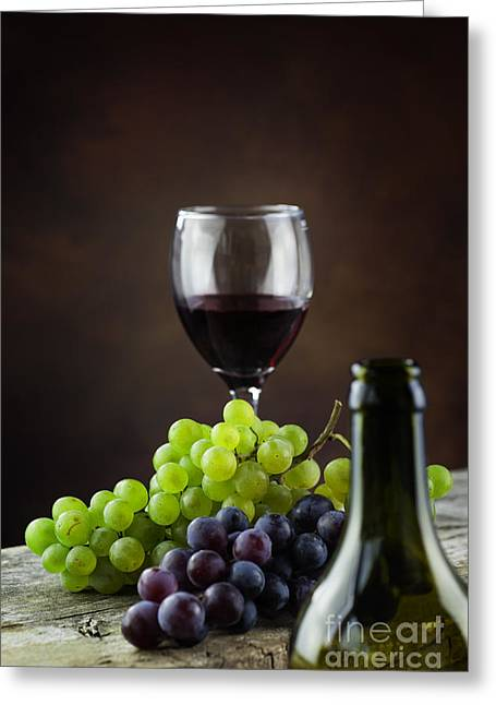 Wine Concept Greeting Card by Mythja  Photography