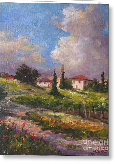 Wine Country  Greeting Card by Gail Salituri
