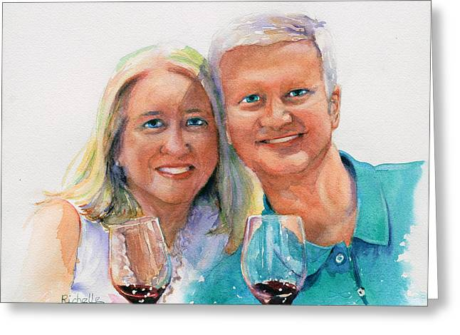 Wine Country Vacation Greeting Card by Richelle Siska