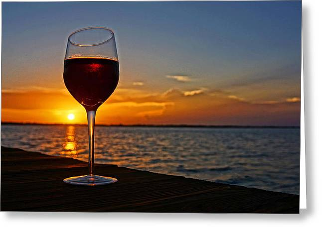 Wine Dock Greeting Card