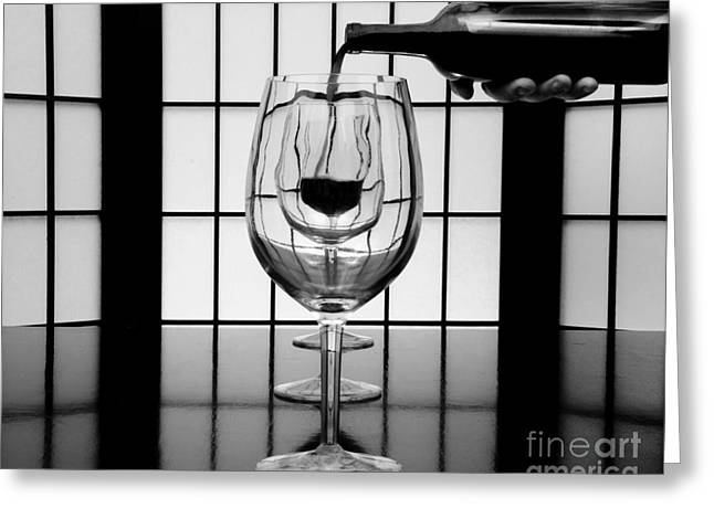 Wine For Three 2 Greeting Card by John Debar