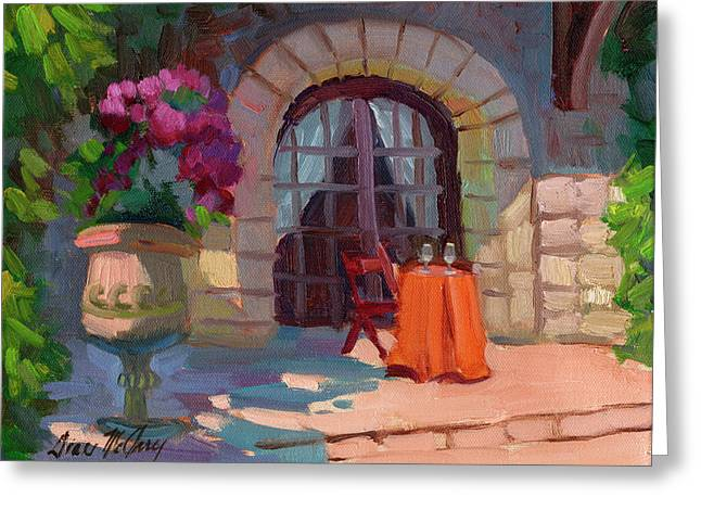 Pumpkins Greeting Cards - Wine for Two Greeting Card by Diane McClary