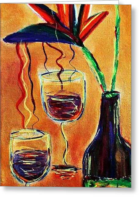 Wine From Birds Of Paradise  Greeting Card by Victoria  Johns