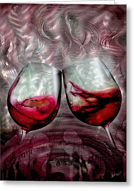 Wine Glass 2 Greeting Card by Luis  Navarro