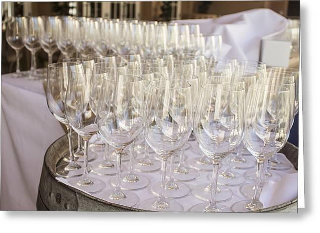 Wine Glasses Greeting Card