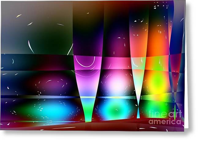 Wine Glasses Greeting Card by Robert Burns