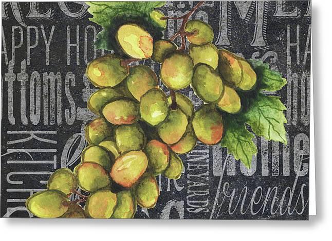 Wine Grapes I Greeting Card