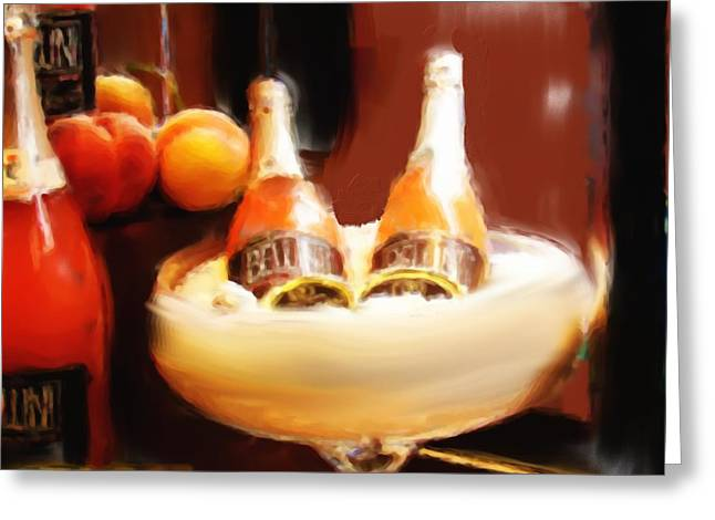 Wine Is Waiting Greeting Card by Phyllis Taylor