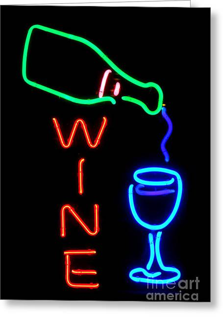 Wine Greeting Card by Olivier Le Queinec