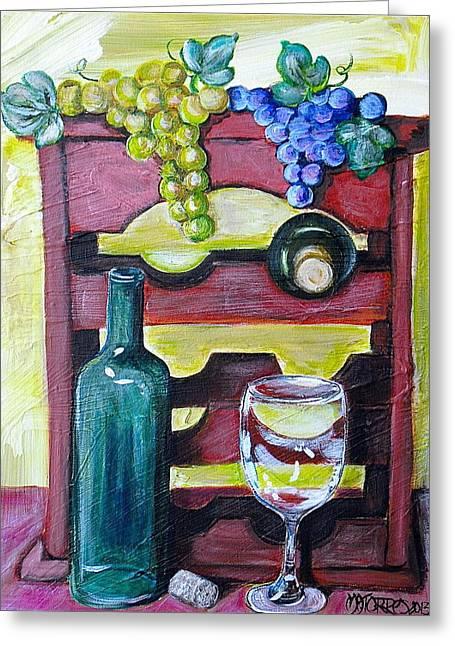 Wine Rack  Greeting Card by Melissa Torres
