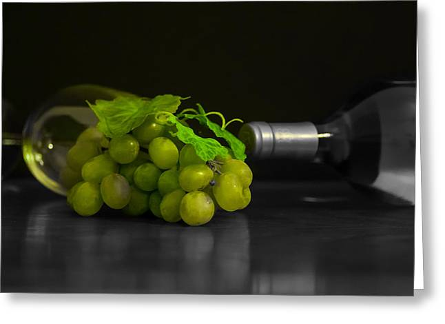 Wine Greeting Card by Stephen Smith