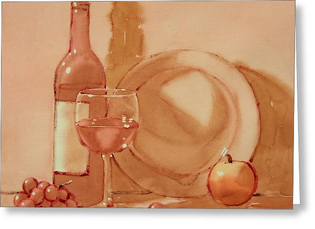 Wine Still Life Greeting Card by Joe Schneider