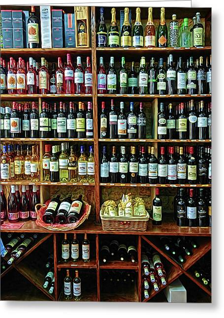 Greeting Card featuring the photograph Wine Store Provence France by Dave Mills