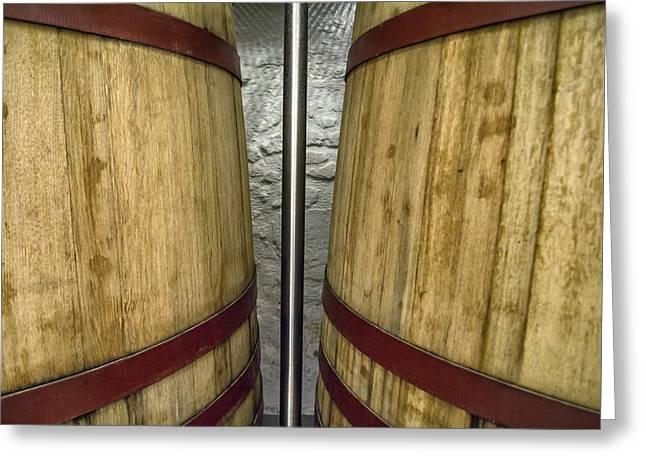 Wine Tanks Greeting Card
