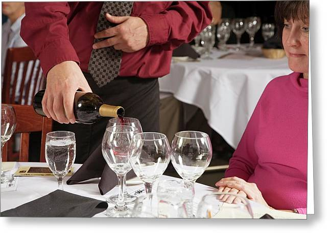 Wine Taster Greeting Card