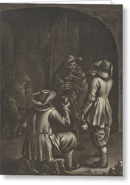 Wine Tasting, Jan Van Somer Greeting Card by Jan Van Somer