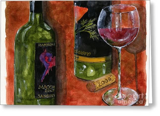 Wine Tasting Greeting Card