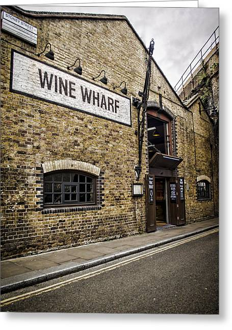 Wine Wharf Greeting Card by Heather Applegate