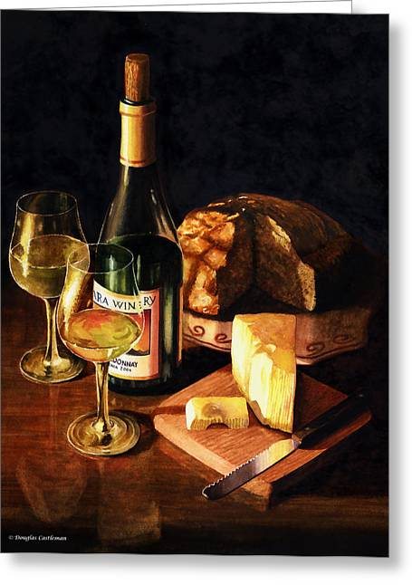 Wine With Cheese Greeting Card