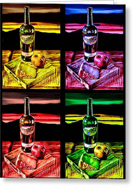 Wine X 4 Greeting Card by Sharon Beth