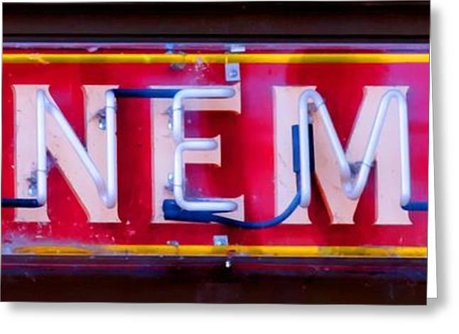 Wineman Neon Sign Greeting Card
