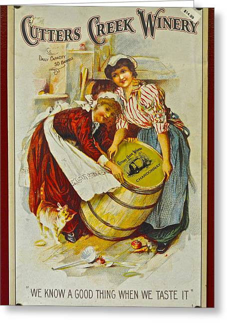 Winery Art Greeting Card