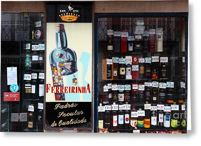 Wines And Ports For Sale Portugal Greeting Card by James Brunker
