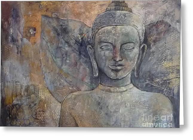 Winged Buddha Greeting Card by Paulina Garoa