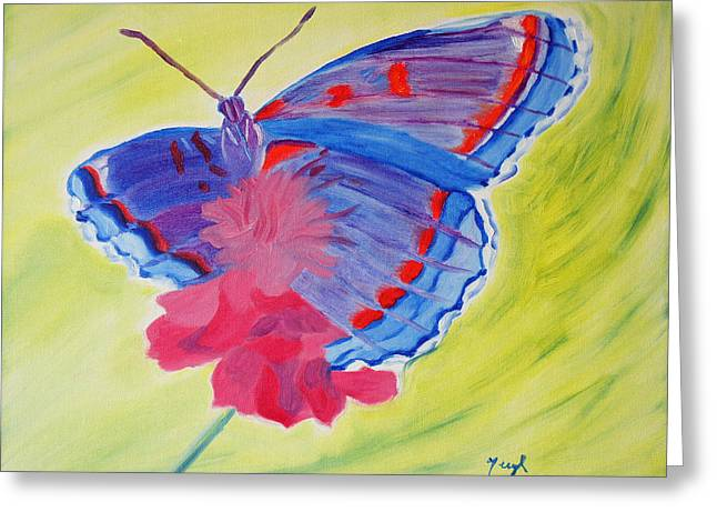 Winged Delight Greeting Card
