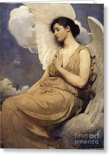 Winged Figure Greeting Card by Abbott Handerson Thayer