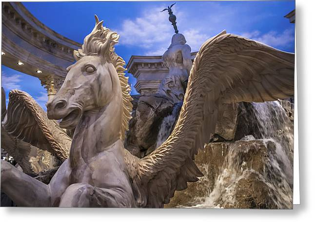 Winged Horse Greeting Card by Glenn DiPaola