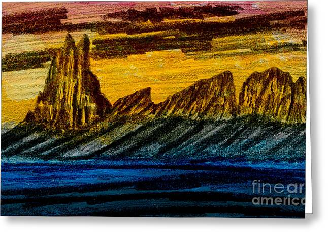 Winged Rock Greeting Card by R Kyllo
