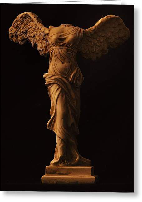 Winged Victory Of Samothrace Greeting Card by Joseph Pugliese