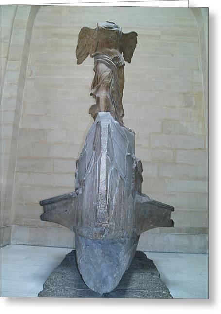 Winged Victory Of Samothrace Greeting Card by Karen Maxwell