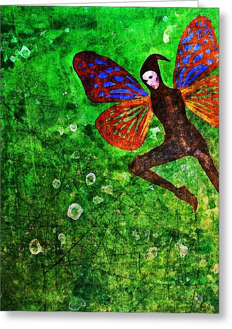 Greeting Card featuring the digital art Wings 10 by Maria Huntley