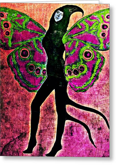 Greeting Card featuring the digital art Wings 11 by Maria Huntley