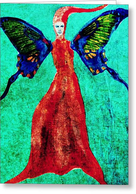 Greeting Card featuring the digital art Wings 13 by Maria Huntley