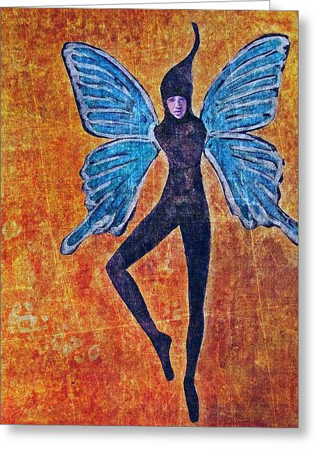 Greeting Card featuring the digital art Wings 16 by Maria Huntley