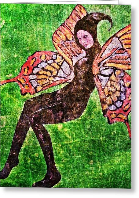 Greeting Card featuring the digital art Wings 17 by Maria Huntley