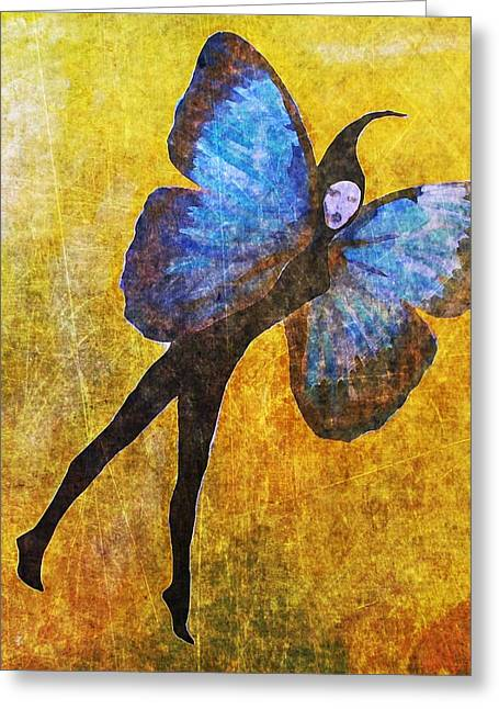 Greeting Card featuring the digital art Wings 5  by Maria Huntley