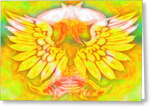 Wings And Butterflies Greeting Card