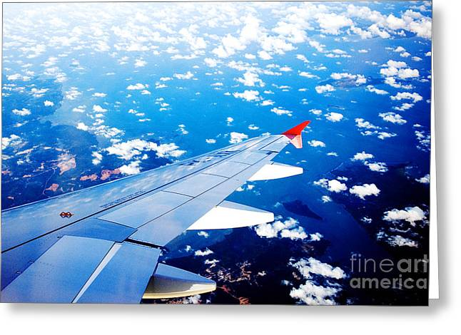 Wings And Clouds Greeting Card
