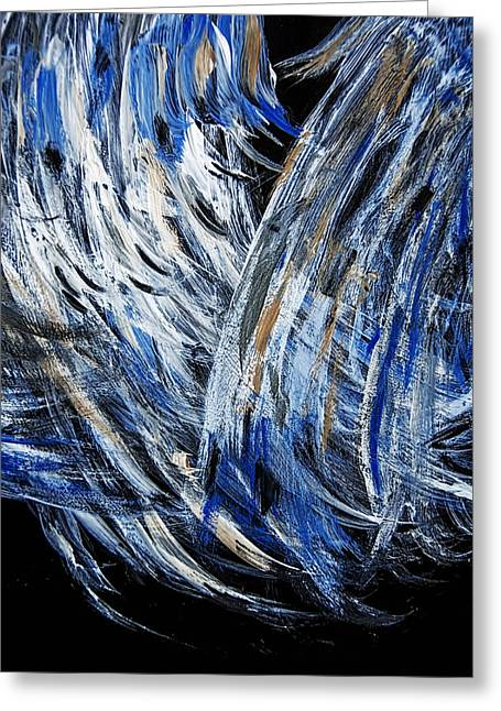 Wings Desired - Sold -original  Oil Painting- Greeting Card by Renee Anderson