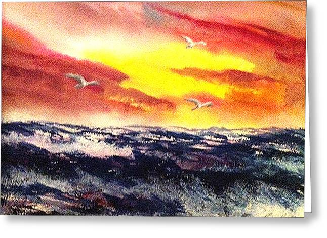 Wings Of Change Greeting Card by Karen  Condron