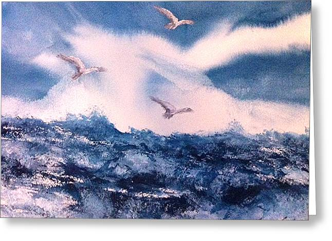 Wings Of The Wind Greeting Card by Karen  Condron