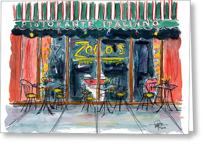 Wining And Dining Greeting Card by Tim Ross