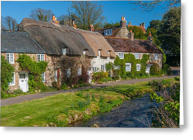 Winkle Street Calbourne Isle Of Wight Greeting Card by David Ross