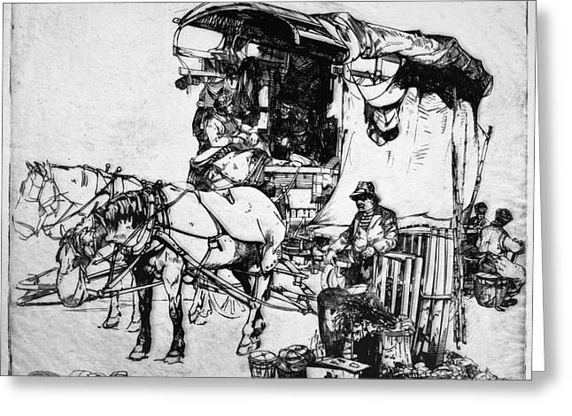 Winkler Delivery Wagon Greeting Card