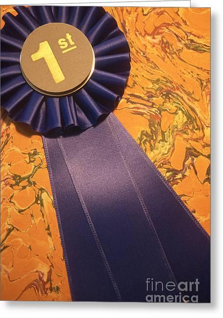 Winners Blue Ribbon Greeting Card